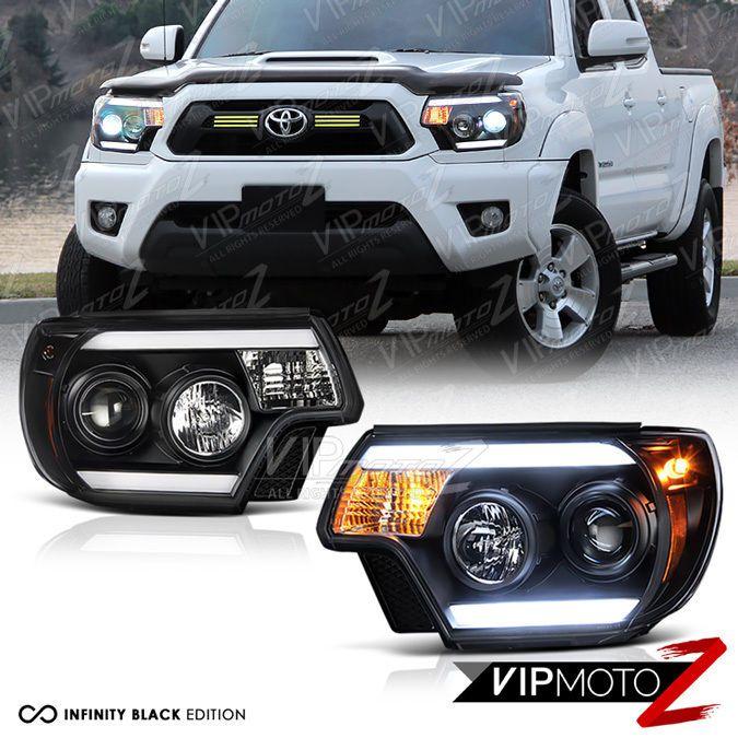 #2012-#2015 #Toyota #Tacoma #TRIBAL #Black #LED #LightBars #Headlight #TRD #VIPMOTOZ