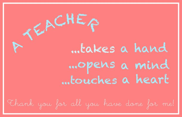 free printable teacher appreciation card – an Lehrer ...