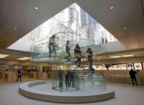 apples office. apple store nyc notice the people outside can see straight into that is underground vice versa public space indooredge pinterest apples office o