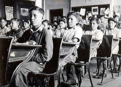 The government wanted to assimilate the aboriginal children to become exactly like Canadians.  The children were forced to learn English and speak only that.  They also had to abandon their religious beliefs.