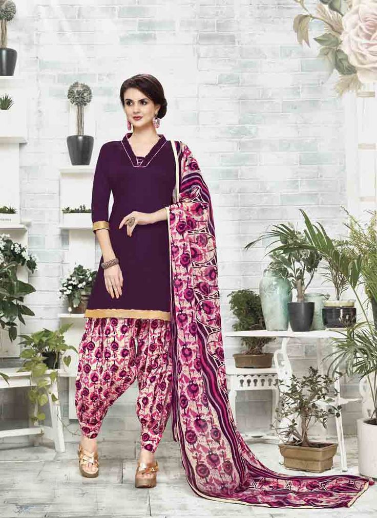 #Purple #Cotton #Satin #Patiala #Salwar #Suit #nikvik  #usa #designer #australia #canada #freeshipping #fashion #dress #sarees #sale