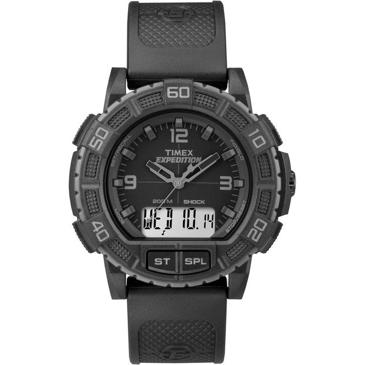 Timex Expedition Double Shock Combo Watch Black TW 4B00800 9J
