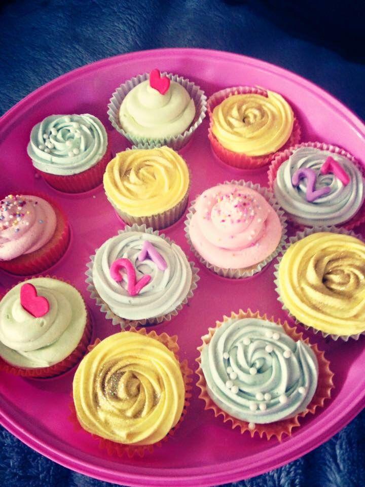 Pastel celebration cupcakes