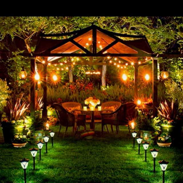 Beautifully lit outdoor space