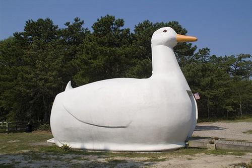The Big Duck, Flanders, NY, USA.