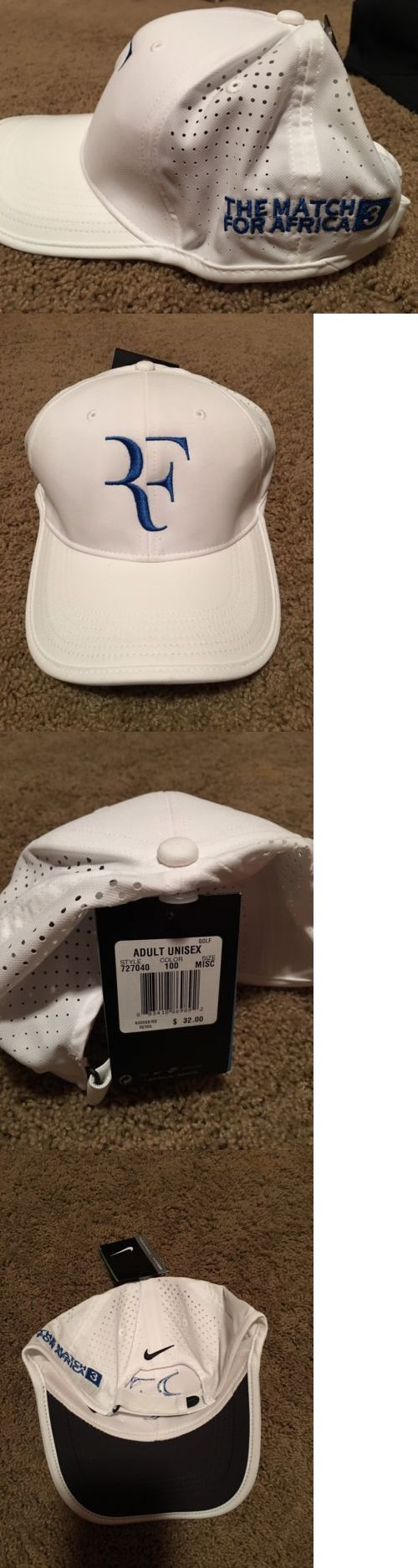 Hats and Headwear 159160: New Nike Federer Rf Match For Africa 3 Hat Cap -> BUY IT NOW ONLY: $275 on eBay!