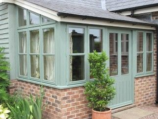 green washed conservatory