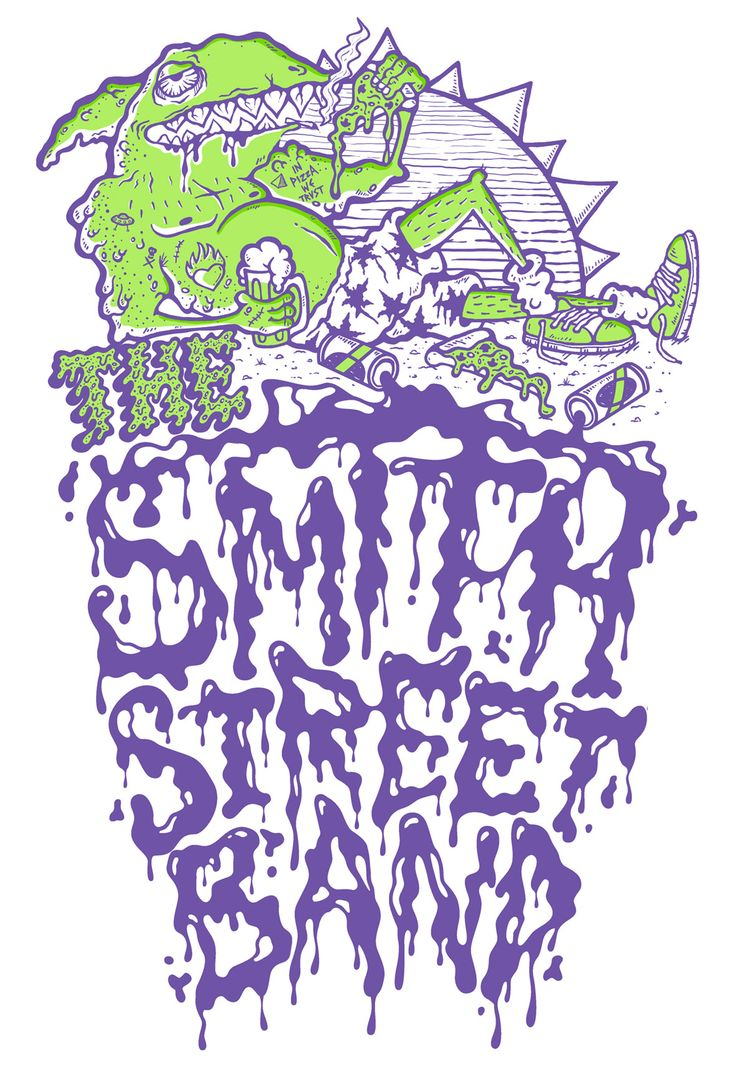 Smith Street Band tee design. Art by Suzanne McPherson