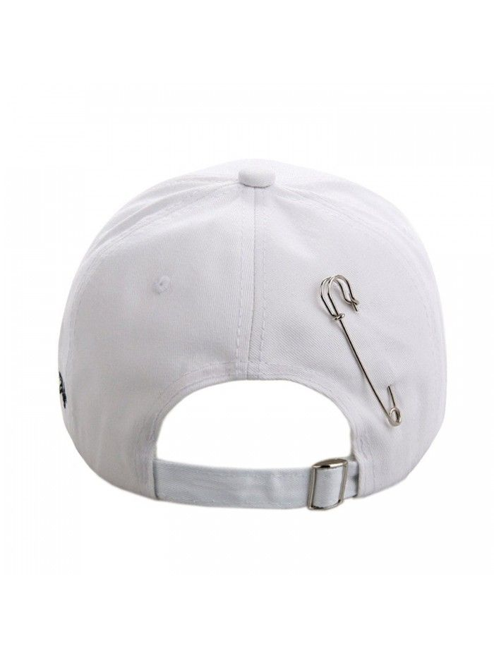 ad880285a6d K-Pop BTS Baseball Cap Bangtan Boys Iron Ring Snapback Hat Cotton  Adjustable Hip Hop Dad Hat - White - CR189XS4X2G