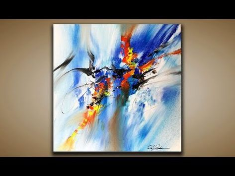 Abstract Painting / DEMO 85 / Abstract Art / With Brush and Palette Knife / Painting Techniques – YouTube