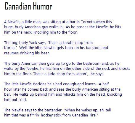 Canadian Humor.