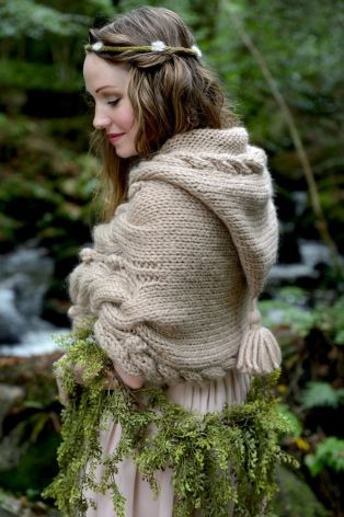 Cloaks Pagan Wicca Witch:  Woodland #Hoodlet, tiny owl knits.