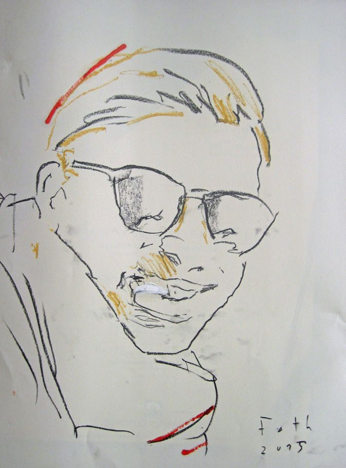 robin i pstell kohle a l auf papier 56 x 43 cm detlev