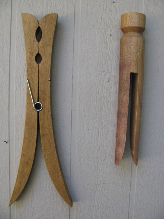 giant wood clothespin wall hanging