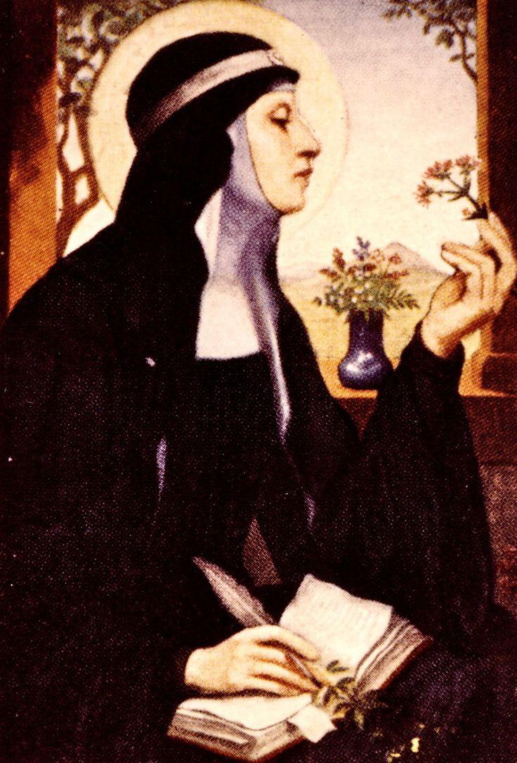 Hildegard von Bingen, visionary saint and herbalist of the 11th century