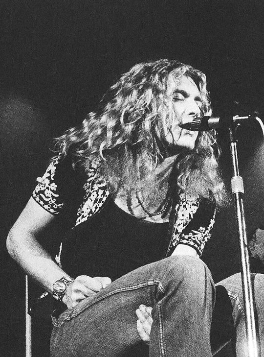Robert Plant on stage at Wembley Empire Pool in London, 1971.