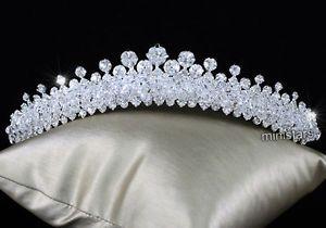 Sparkling Bridal Wedding Tiara Comb use Austrian Crystal T1502