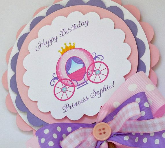 Princess Birthday Centerpiece by OneFantasticParty on Etsy, $13.00