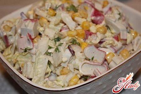 Салат из китайской капусты с фасолью