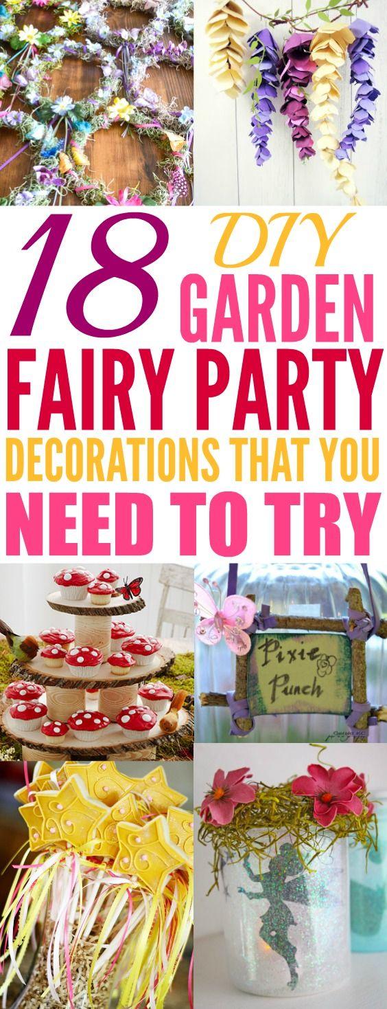 18 Easy DIY Woodland Fairy Garden Party Décor Ideas