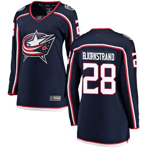 Oliver Bjorkstrand Columbus Blue Jackets Fanatics Branded Women's Breakaway Hockey Jersey - NHL #28 Home Navy Blue