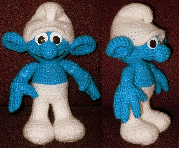 SmurfLike Crochet Doll Pattern by RowenaZahnreiCrafts on Etsy, $7.99