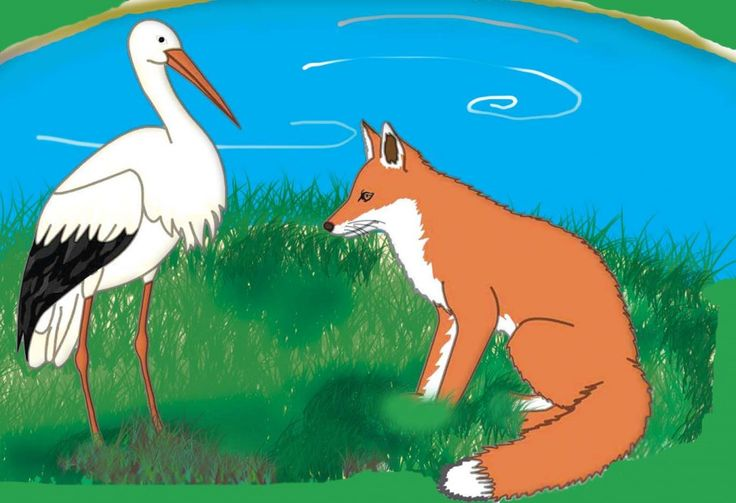 Here is the story of the fox and the stork with pictures. Small stories for kids like the fox and the stork story are very popular. Here is a beautifully illustrated version of this fable that has a moral too.