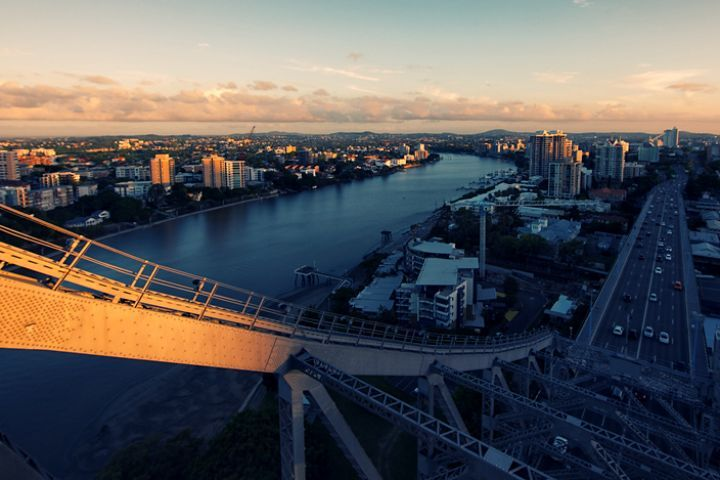 Shot from the top of the Story Bridge, Brisbane