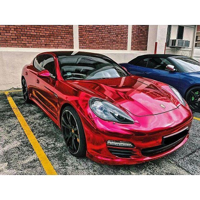 Red chrome OMG 😱 ➖➖➖➖➖➖➖➖➖➖➖➖➖➖➖ #mansory #porsheclub #panamera #speed #911 #turbo #mercedes #elegance #chill #boss #money #stuttgart #german #cars #vossen #interior #fast #goals #dream #deutschland #gts #swiss #car #carporn #monaco #swisscars #shmee150 #carsofinstagram #buggati #hamman