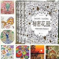 New Children Adult English Edition Secret Garden 30 Sheets Coloring Card Tintage Postcards Painting Drawing Book