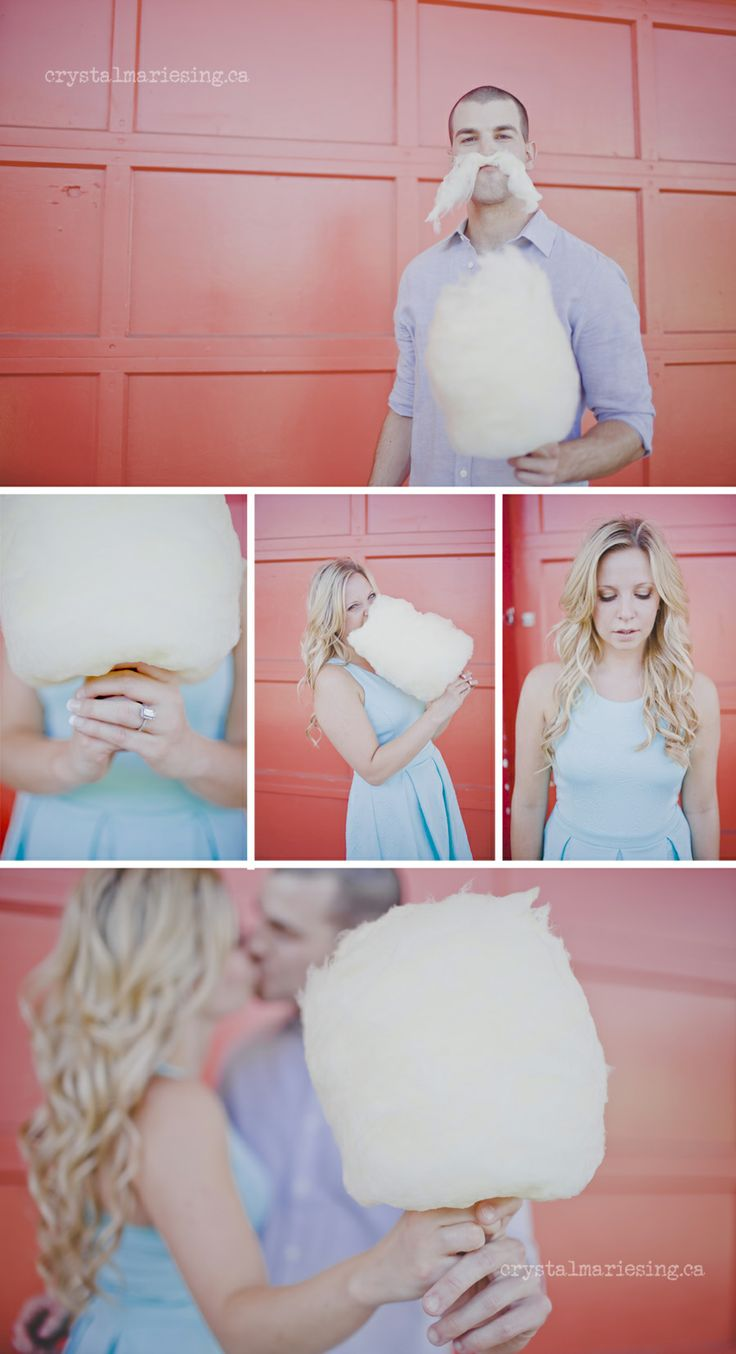 Playland engagement- cotton candy