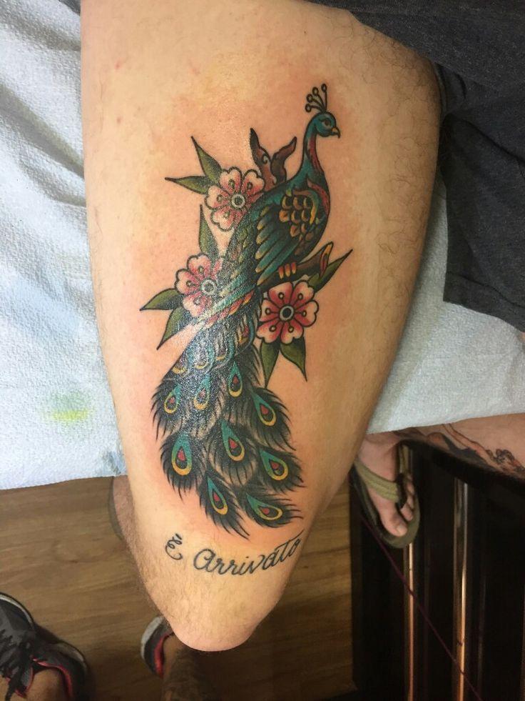 613 best bird tatts images on pinterest tattoo bird for Traditional peacock tattoo