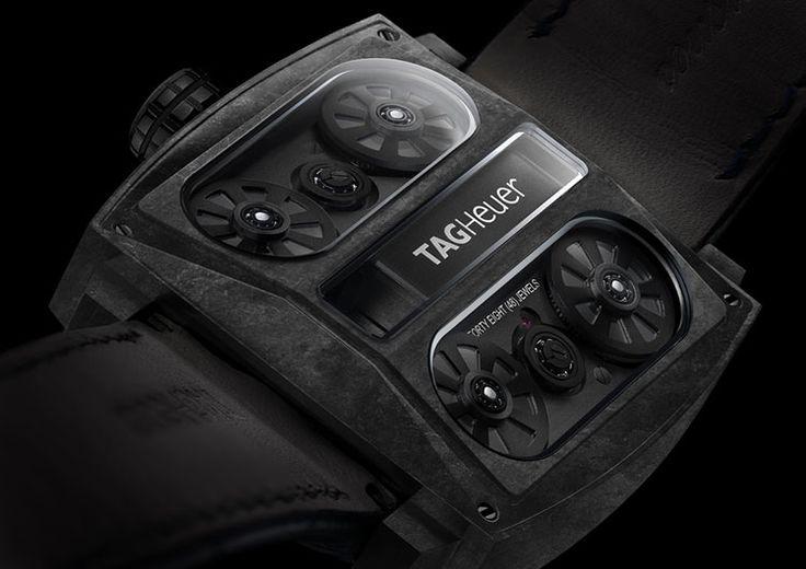 TAG Heuer introduces the stealthy Monaco V4 Phantom http://bit.ly/1AcpKyP
