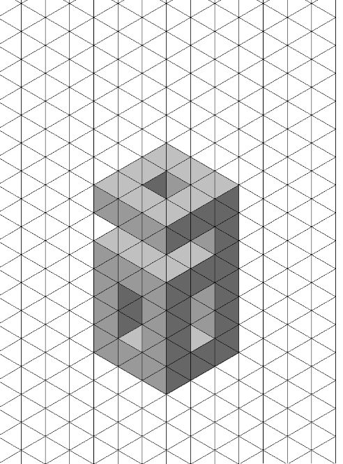 how to draw 3d objects on isometric paper