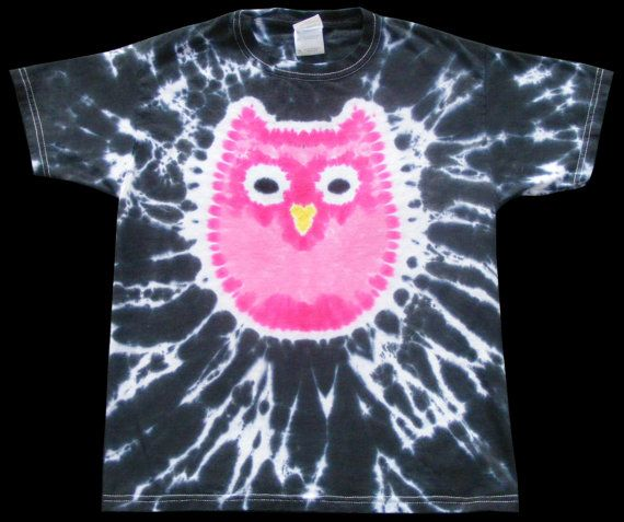 Pink Owl Tie Dye 3X 4X 5X by creativitees on Etsy, $25.00