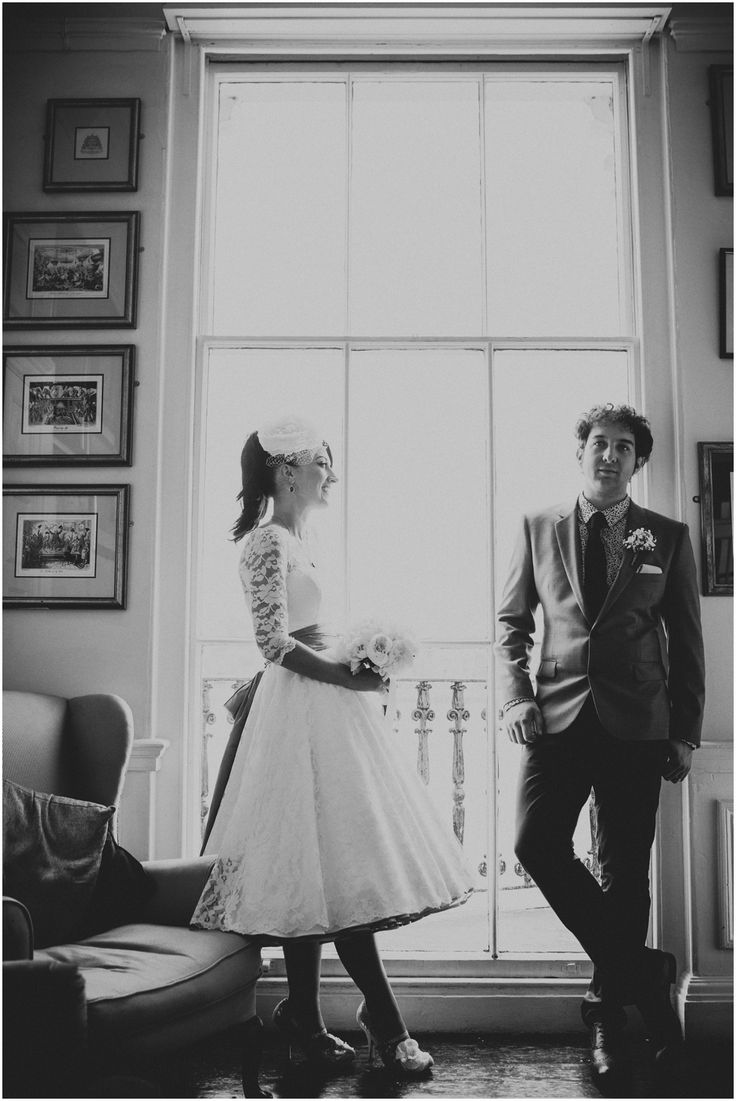 TRAFALGAR TAVERN WEDDING PHOTOGRAPHY | rock n roll | the Barats | stylish | quirky | window light | black and white | unique | bride and groom portraits