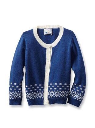 93% OFF Portolano Baby Cardigan (Happy Blue/White)