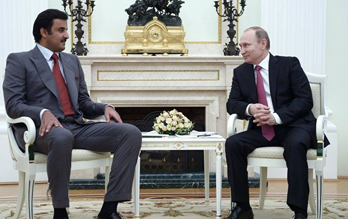Putin, Qatar's Emir Agree to Intensify Contacts to Resolve Syria Crisis