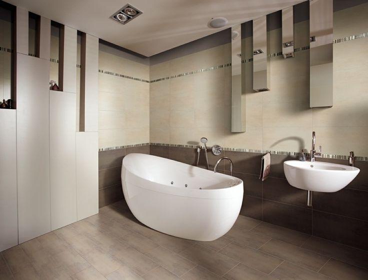 palette de couleur et salle de bains en marron