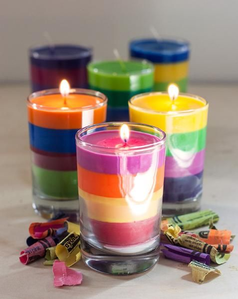 Como fazer velas coloridas com giz de cera | Cacareco