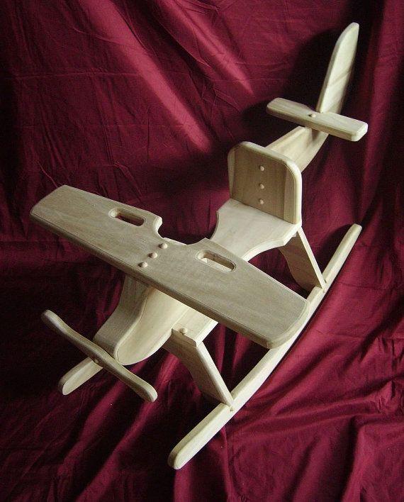 Los niños aeroplano de madera mecedora Rocker por GandGRockers