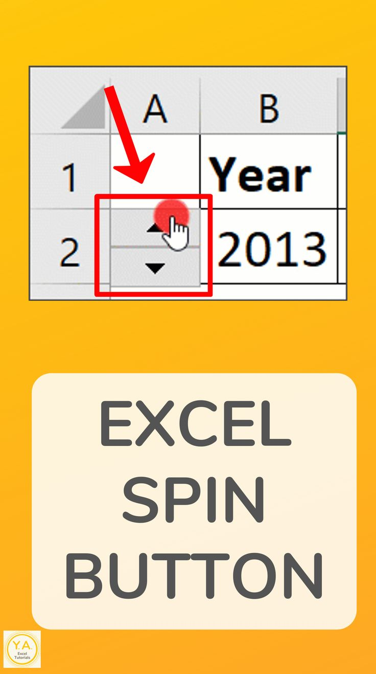An Excel Spin Button is a button made up of an up arrow
