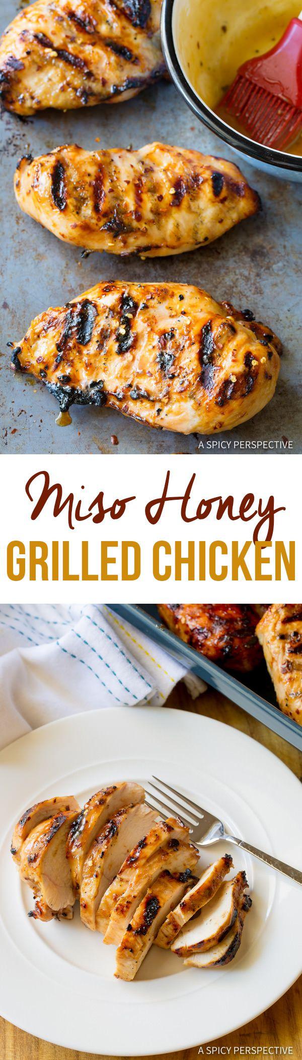 Grilled Miso Honey Chicken Recipe | ASpicyPerspective.com