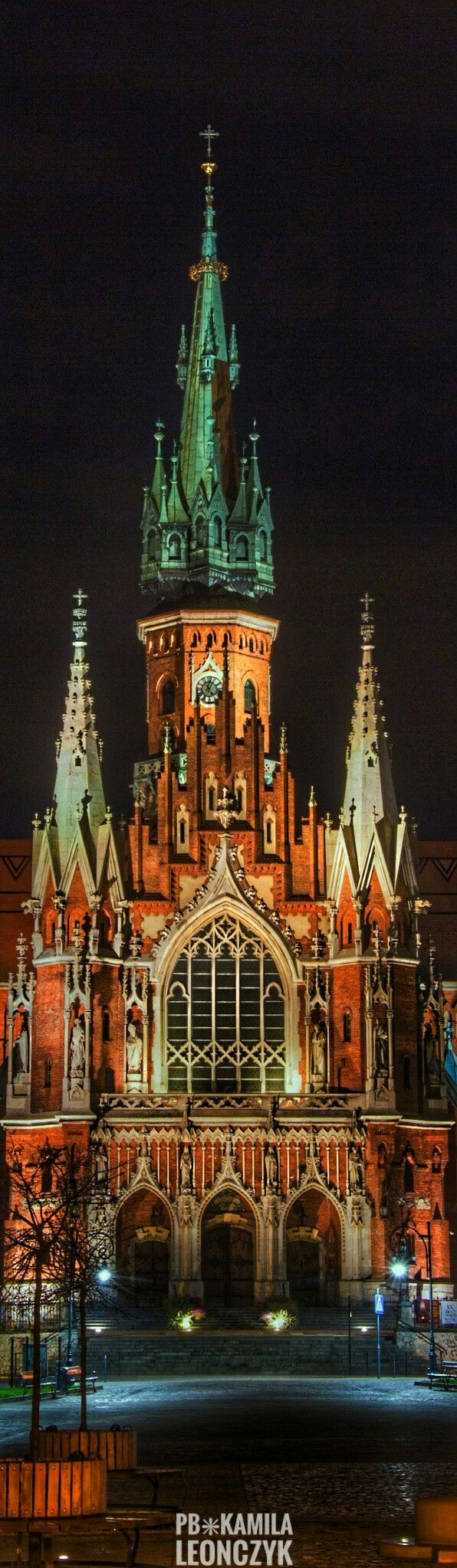 St. Joseph's Church - is a historic Roman Catholic church in Podgórze district of Kraków, Poland, at Podgórski Square on the northern slopes of the Krzemionki foothills in the south-central part of the city. The church was built between 1905 and 1909, and designed by Jan Sas Zubrzycki, in Gothic Revival style. It is the largest church in the area