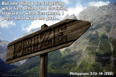 Verse of the Day: Forget the Past and Press On - Philippians 3:13-14