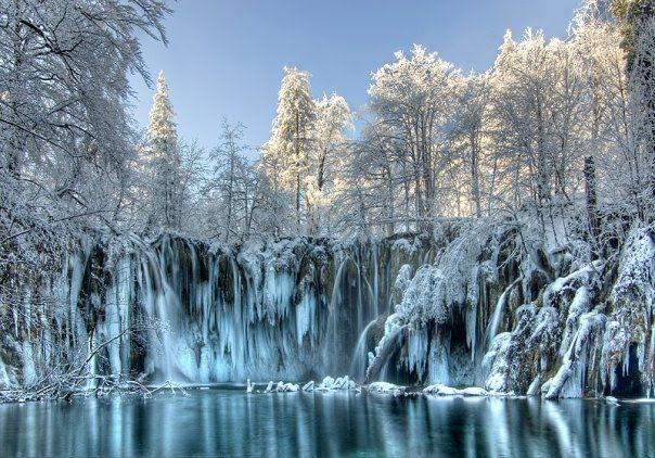 Jeziora Plitvickie zimą