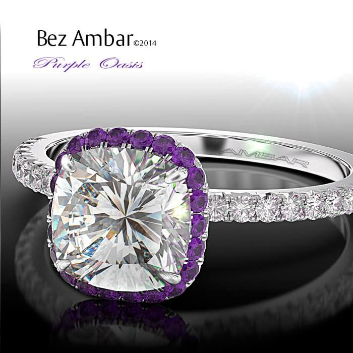 Bez Ambar S Purple Oasis Engagement Ring With An Amethyst