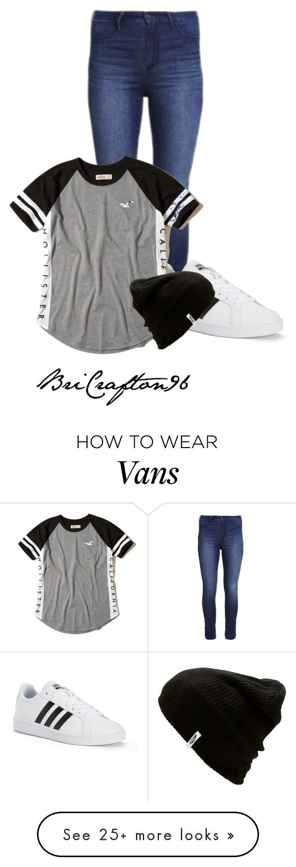 """""""Untitled#673"""" by bricrafton96 on Polyvore featuring Hollister Co., adidas, Vans, beanies and hollisterco"""