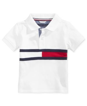 Tommy Hilfiger Flag Polo Shirt, Baby Boys (0-24 months) - White 18 months