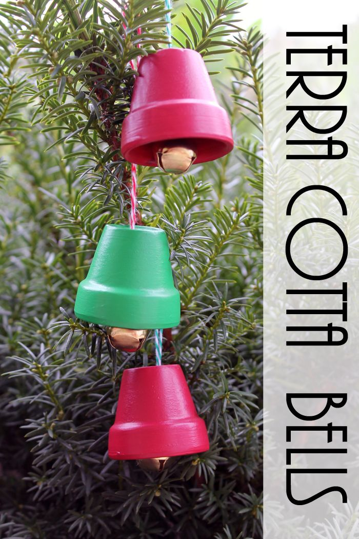 Terra Cotta Bells DIY Christmas ornaments